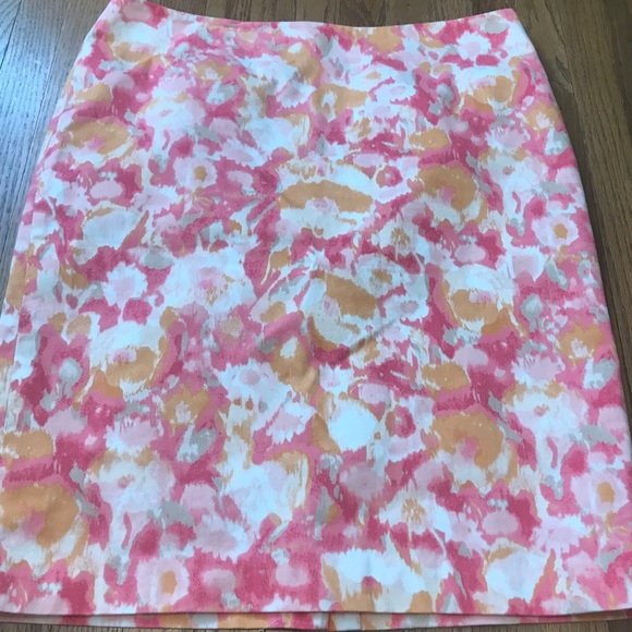 Talbots Watercolor Skirt Size 14